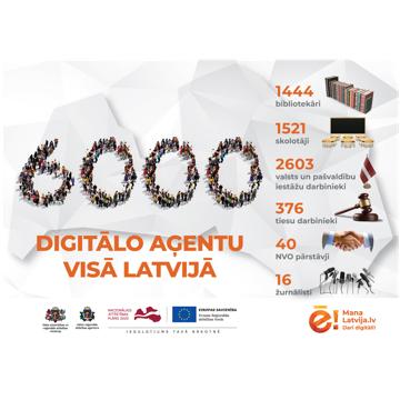 6000 digitālo aģentu visā Latvijā gatavi palīdzēt apgūt e-pakalpojumus